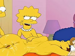 Cartoon Porn Simpsons Porn Bart And Lisa Have Fun With Mom Marge Vporn Com
