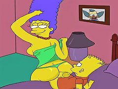 Cartoon Porn Simpsons Porn Marge Fuck His Son Bart Vporn Com