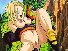 Zone Android 18 Vs Semi Perfect Cell 1080p 60fps